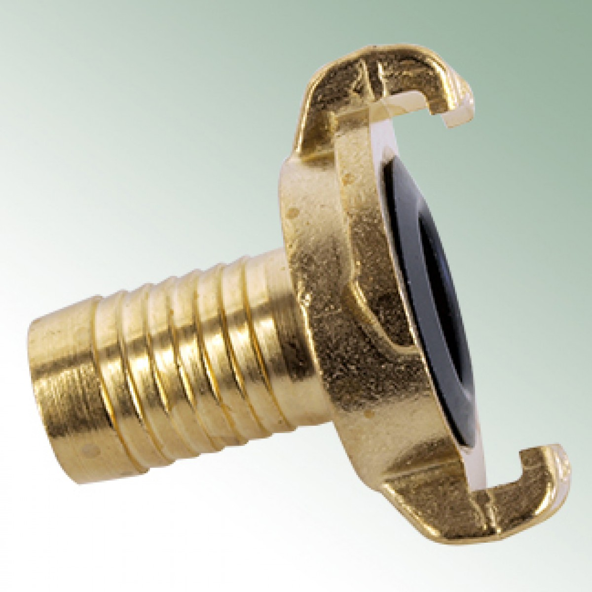 Hose tail connector made from brass geka couplings