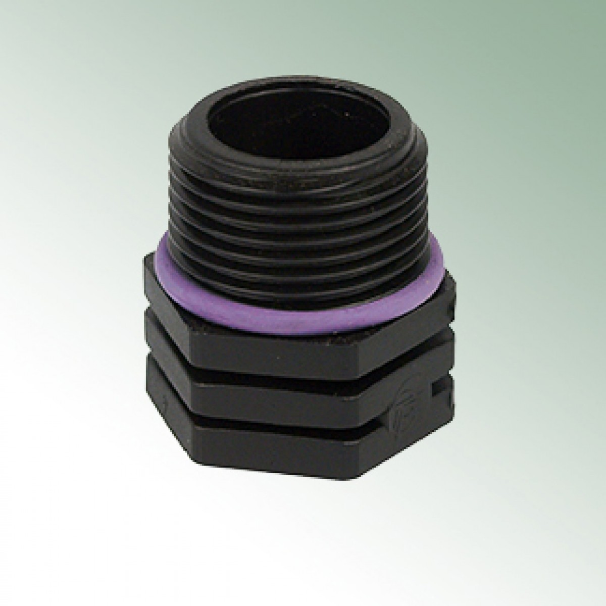 End cap male thread plastic with o ring fittings
