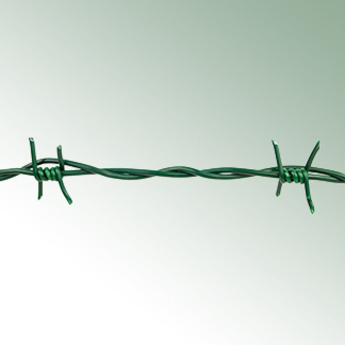Barbed Wire, plastic-coated*** galvanised core, double wire Roll ...