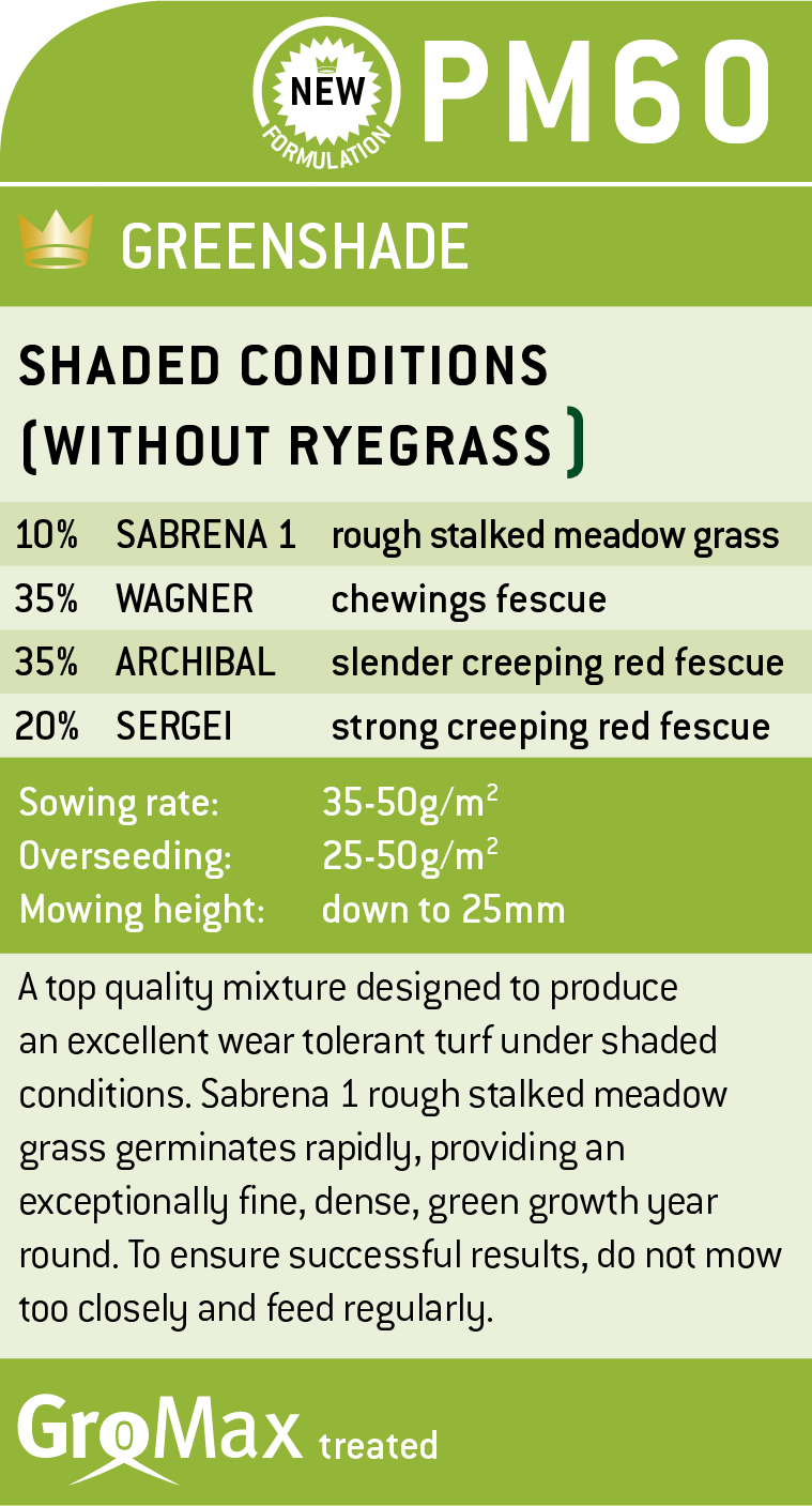 DLF Grass Seed - Greenshade x20kg Bag