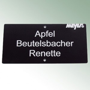 Acrylic Engraved Label 12x6m - Black with White Font