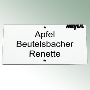 Acrylic Engraved Label 18x6m - White with Black Font
